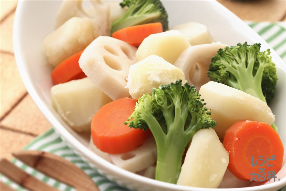 温野菜(じゃがいも+にんじんを使ったレシピ)