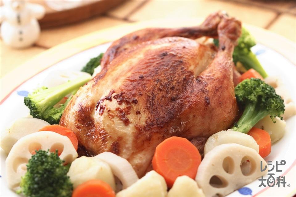 ローストチキン(鶏(中抜き)+じゃがいもを使ったレシピ)