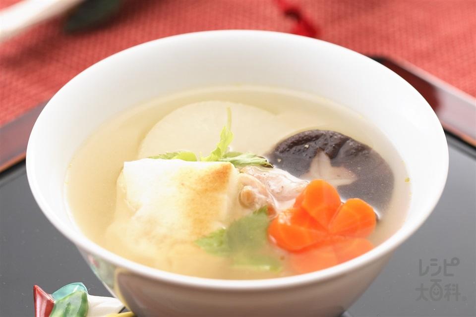 鶏肉と大根の洋風雑煮(角餅+大根を使ったレシピ)