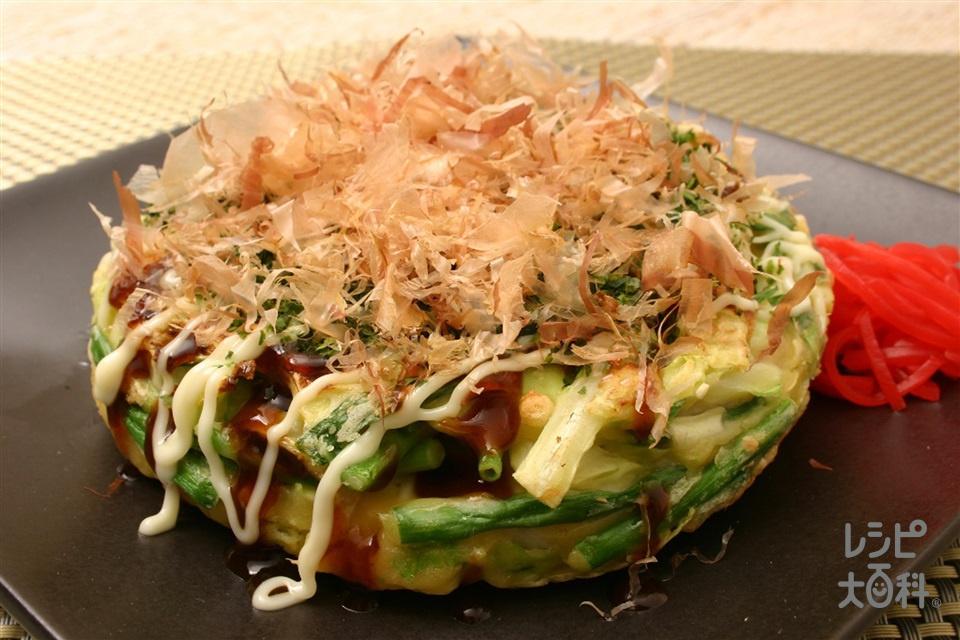 鶏肉のお好み焼き(キャベツ+鶏ささ身を使ったレシピ)
