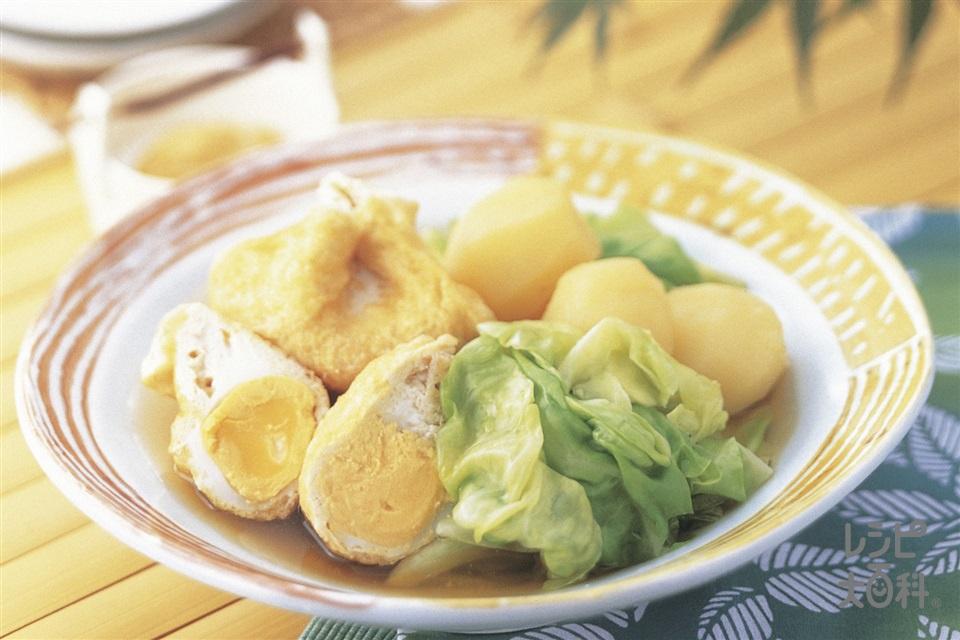 キャベ卵きんちゃく(キャベツ+新じゃがいもを使ったレシピ)