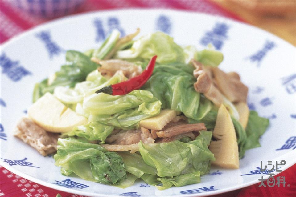 春きゃべつのシャキシャキ炒め(キャベツ+豚バラ薄切り肉を使ったレシピ)