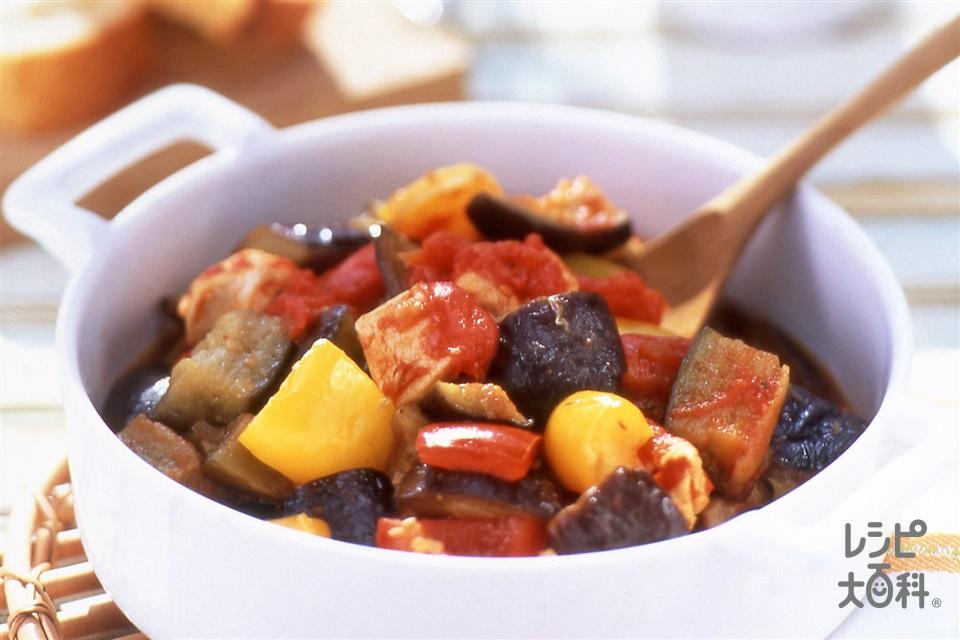 チキンラタトゥイユ(鶏むね肉+なすを使ったレシピ)