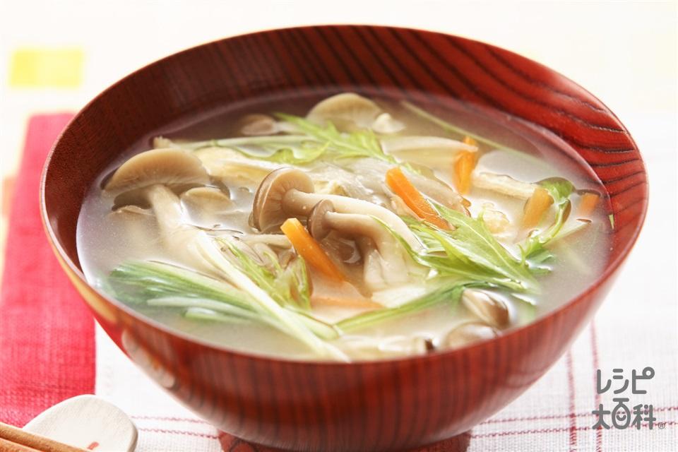 沢煮風みそ汁(ごぼう+しめじを使ったレシピ)