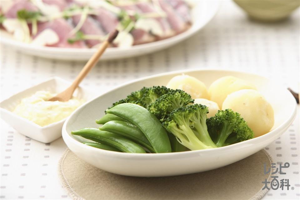 温野菜サラダ ゆずマヨソース(新じゃがいも+ブロッコリーを使ったレシピ)