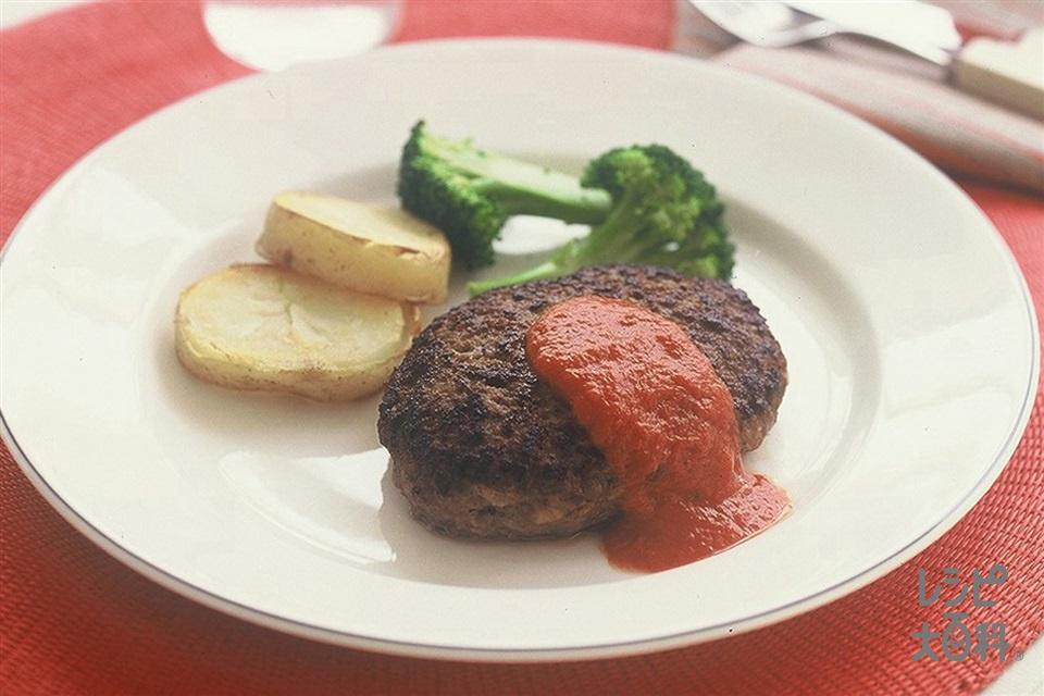 ハンバーグ(合いびき肉+溶き卵を使ったレシピ)