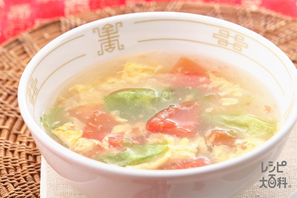 トマトとレタスのスープ
