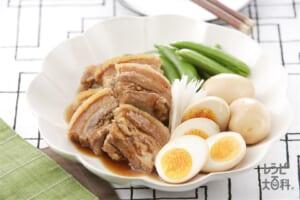 やわらか  豚の角煮(豚バラ肉+ゆで卵を使ったレシピ)
