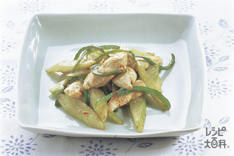 セロリたっぷり中華炒め(セロリ+鶏ささ身を使ったレシピ)