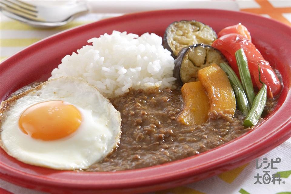 キーマカレー(玉ねぎ+ご飯を使ったレシピ)