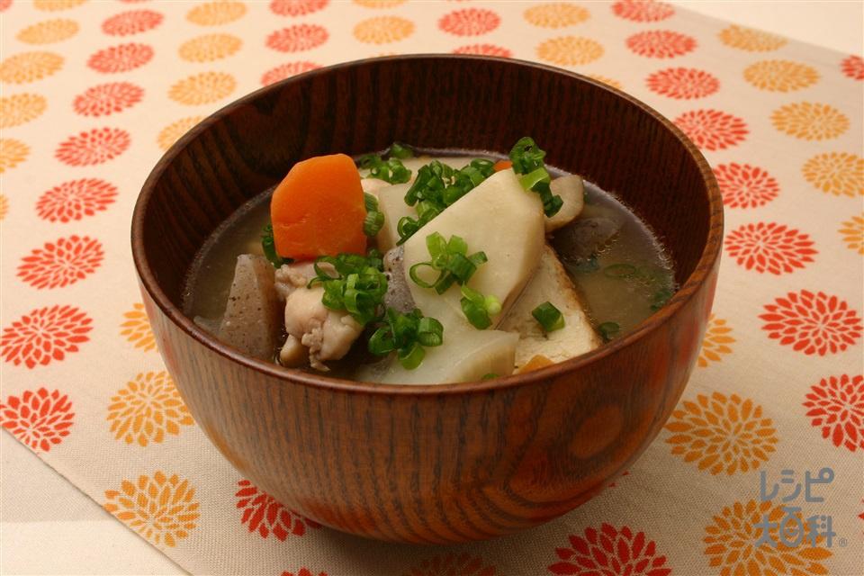 具だくさん京いも汁(京いも+大根を使ったレシピ)