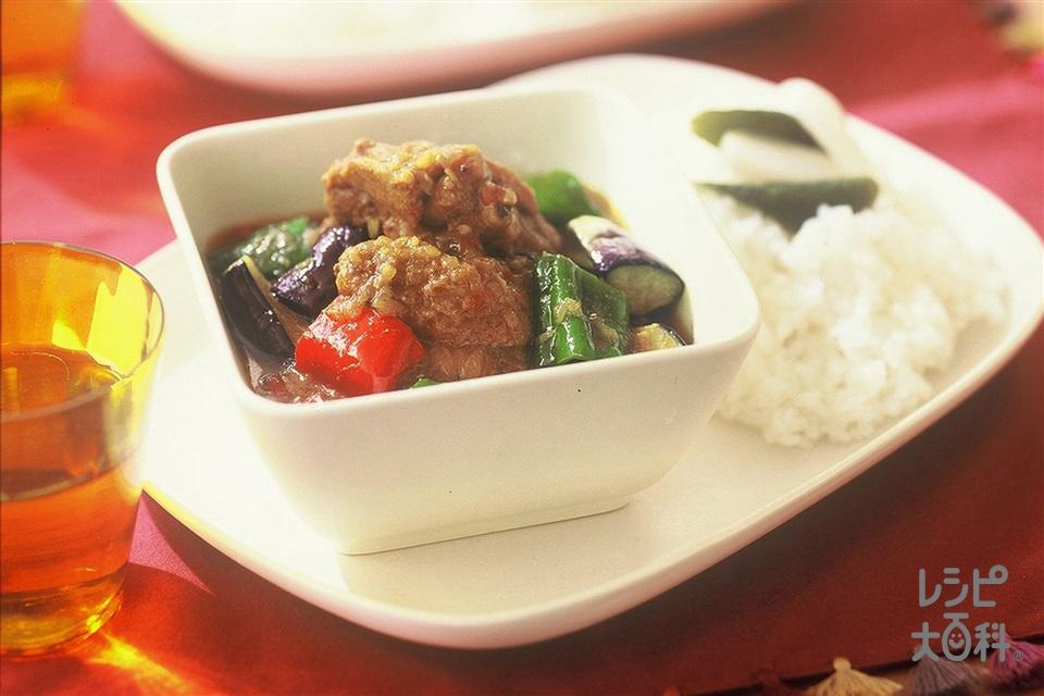 チキンカレー(鶏もも肉+ご飯を使ったレシピ)