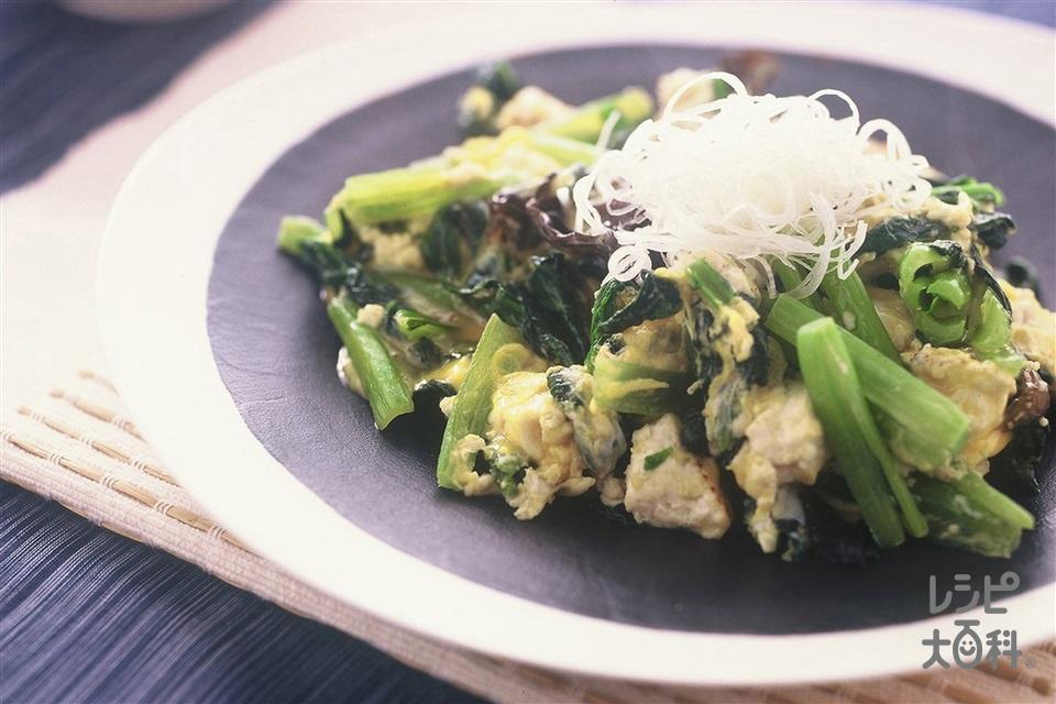 小松菜のいり豆腐(小松菜+焼き豆腐を使ったレシピ)