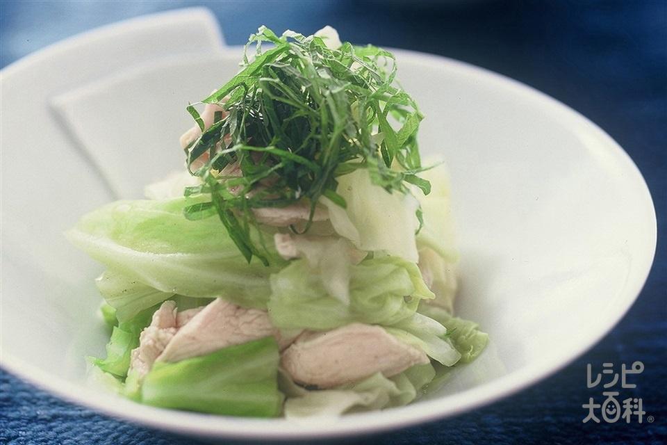 温キャベツとささ身のいりこあえ(キャベツ+鶏ささ身を使ったレシピ)
