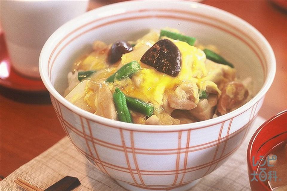 親子丼(ご飯+鶏もも肉を使ったレシピ)