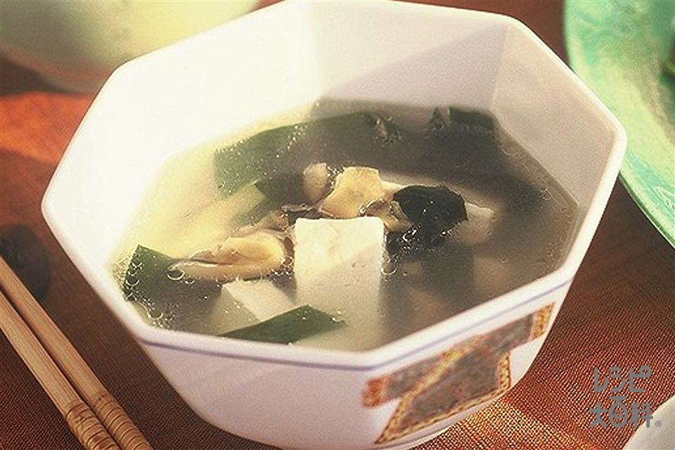 豆腐とザーサイのスープ(木綿豆腐+ザーサイを使ったレシピ)