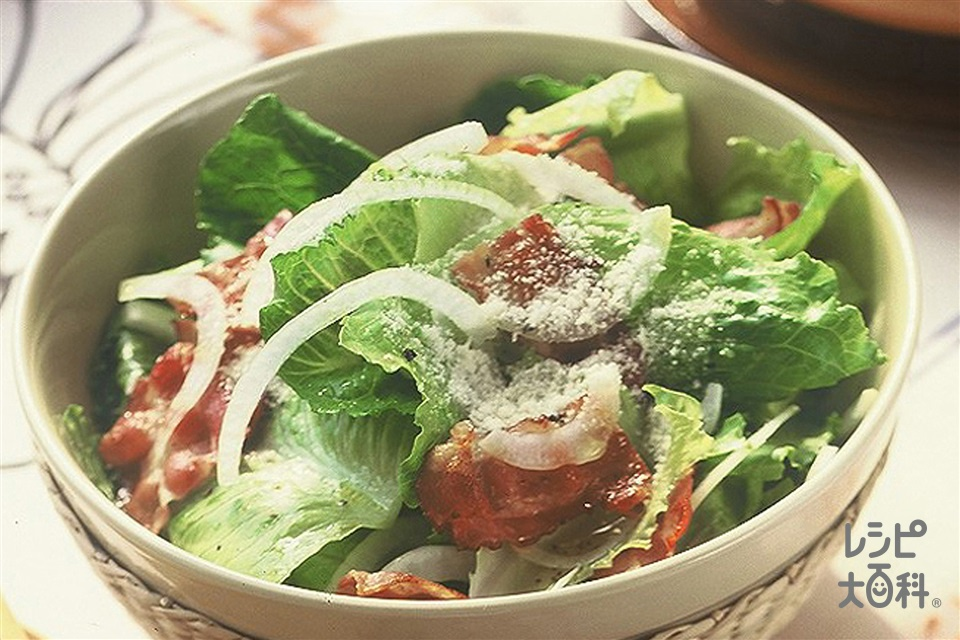 シーザースサラダ(ロメインレタス+玉ねぎを使ったレシピ)