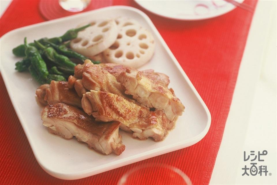 鶏肉の甘辛照り焼き(鶏もも肉+れんこんを使ったレシピ)