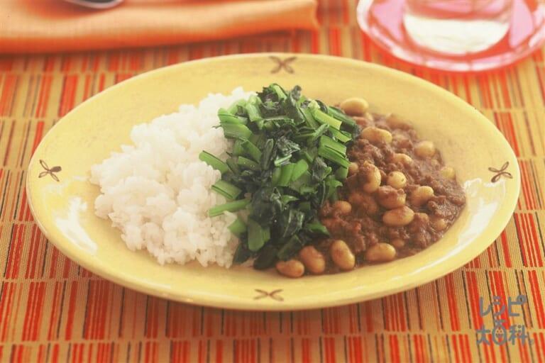 ひき肉と大豆のカレー