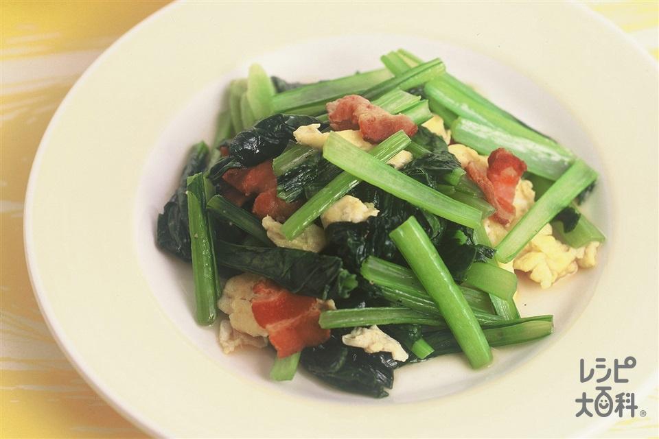 小松菜と卵のソテー(小松菜+卵を使ったレシピ)