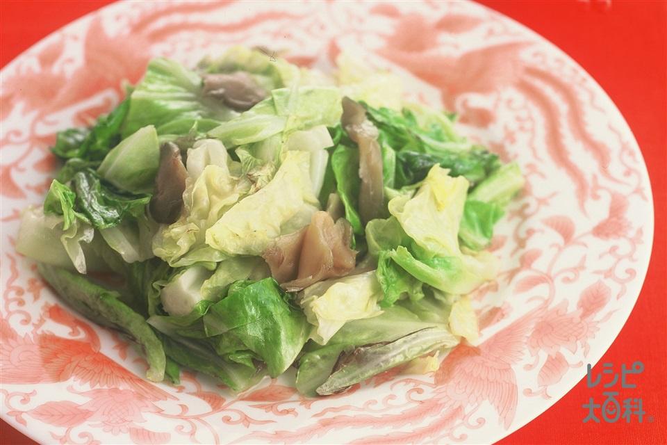 キャベツとザーサイの炒めもの(キャベツ+ザーサイを使ったレシピ)