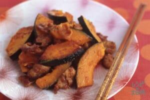 かぼちゃと豚肉の炒めもの