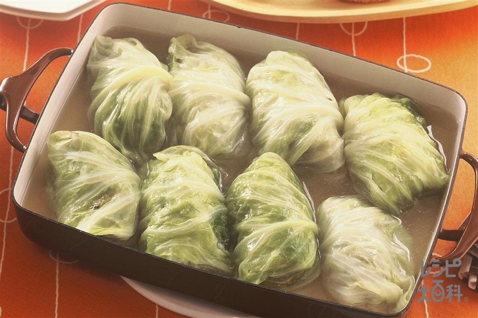 ロールキャベツ(合いびき肉+キャベツを使ったレシピ)