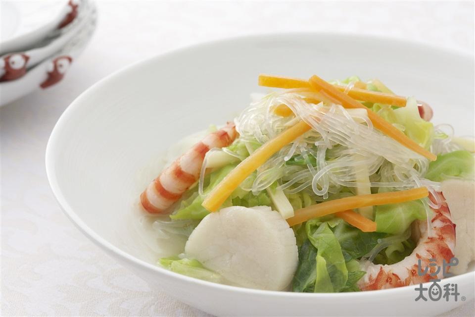 素菜煮粉絲(キャベツと春雨の炒め煮込み)(キャベツ+にんじんを使ったレシピ)
