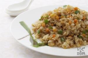 香醋菜炒飯(黒酢でさっぱりチャイナライス)