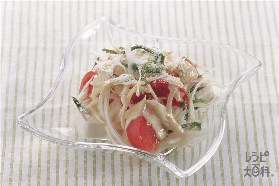 トマトと豆腐のサラダ(トマト+絹ごし豆腐を使ったレシピ)