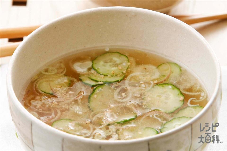 きゅうりのゴマ汁(きゅうり+みょうがを使ったレシピ)