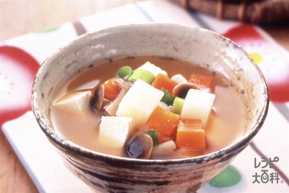 長いもほろっとけんちん汁(長いも+木綿豆腐を使ったレシピ)