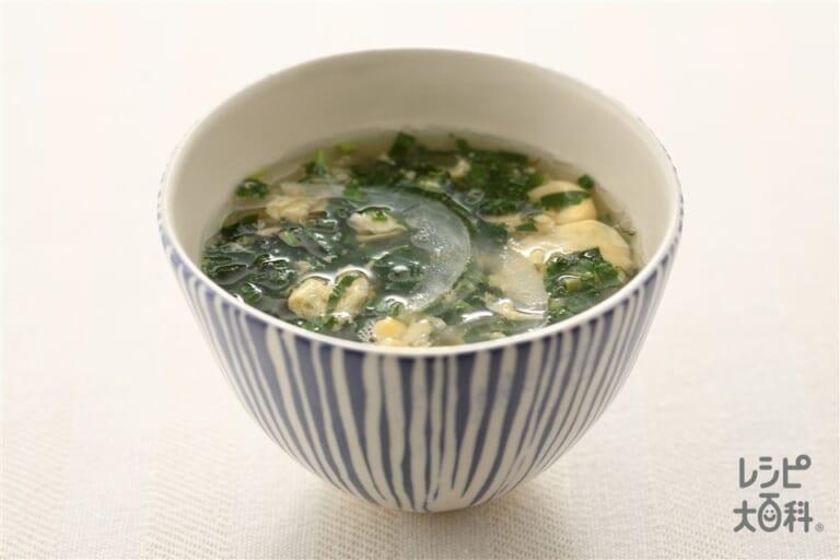 モロヘイヤのかき卵スープ