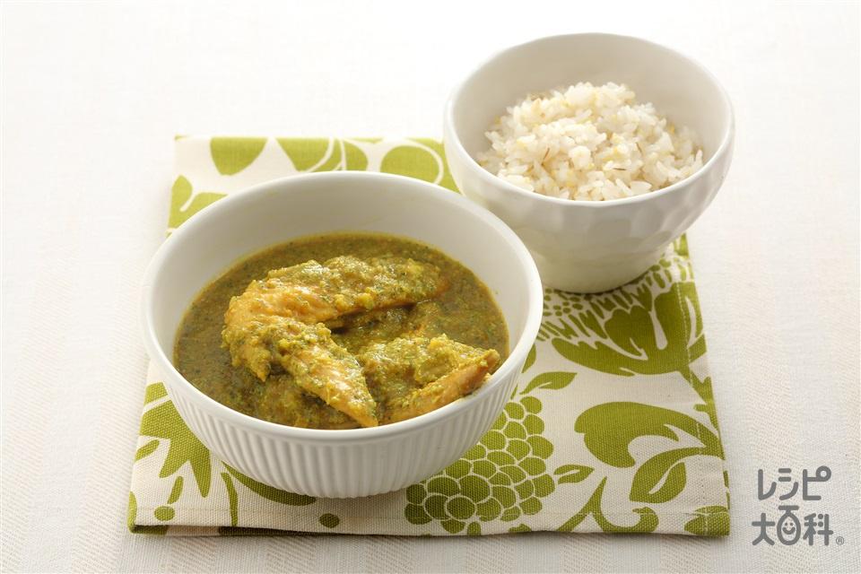 手羽先とブロッコリーのグリーンカレー(鶏手羽先+ブロッコリーを使ったレシピ)