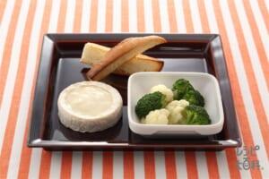 花野菜のコンソメ煮、カマンベールフォンデュ