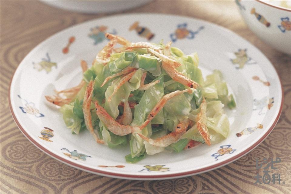 キャベツのピリ辛あえ(キャベツ+干し桜えびを使ったレシピ)