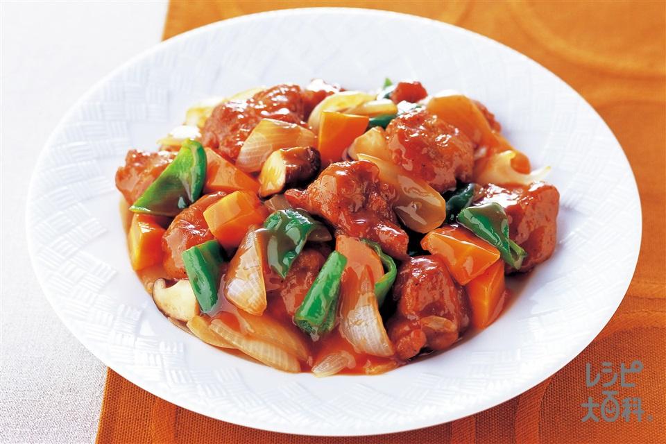 酢鶏(鶏もも肉+玉ねぎを使ったレシピ)