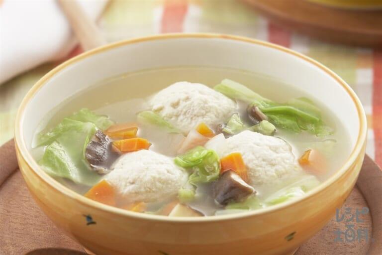 ふわふわ豆腐ボールのスープ
