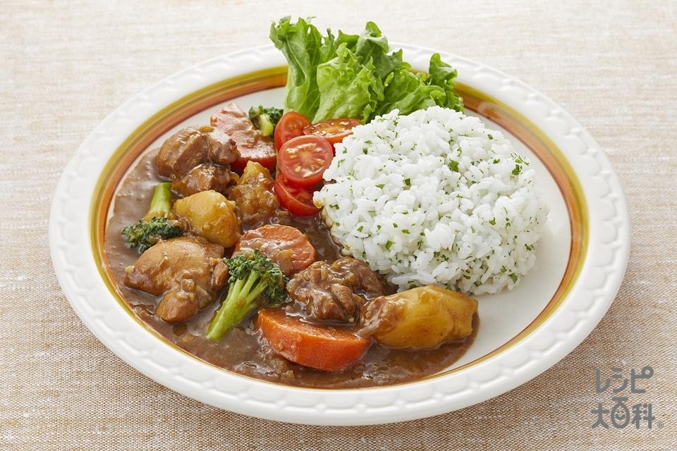 基本のチキンカレー(玉ねぎのみじん切り+温かいご飯を使ったレシピ)