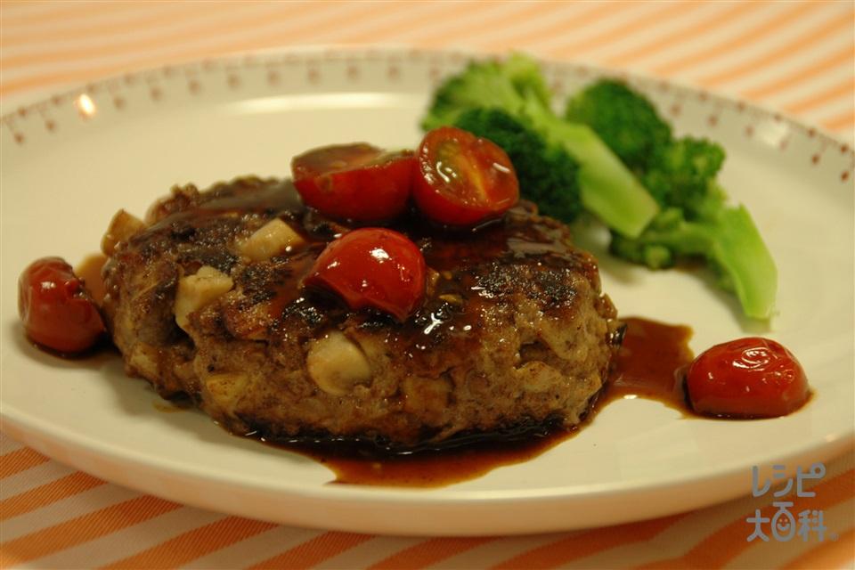 エリンギたっぷりボリュームハンバーグ(合いびき肉+エリンギを使ったレシピ)