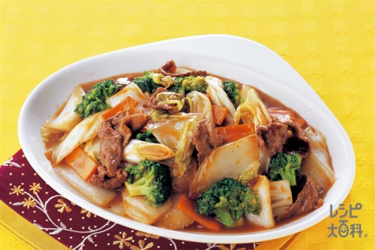 牛肉と白菜のオイスターソース炒め
