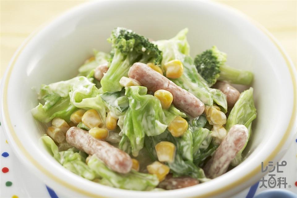 ボイルキャベツとコーンのコクうまサラダ(キャベツ+ブロッコリーを使ったレシピ)