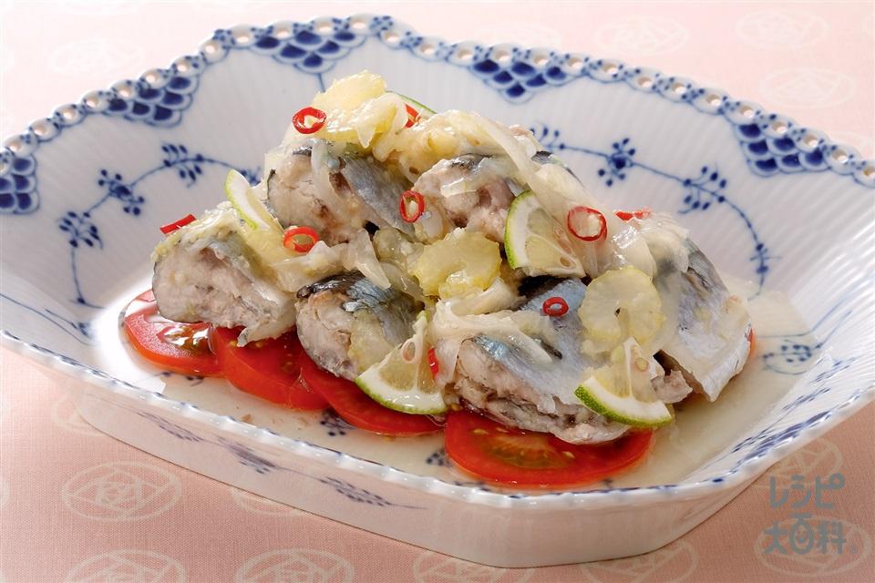さんまのオイル漬け(さんま+トマトを使ったレシピ)