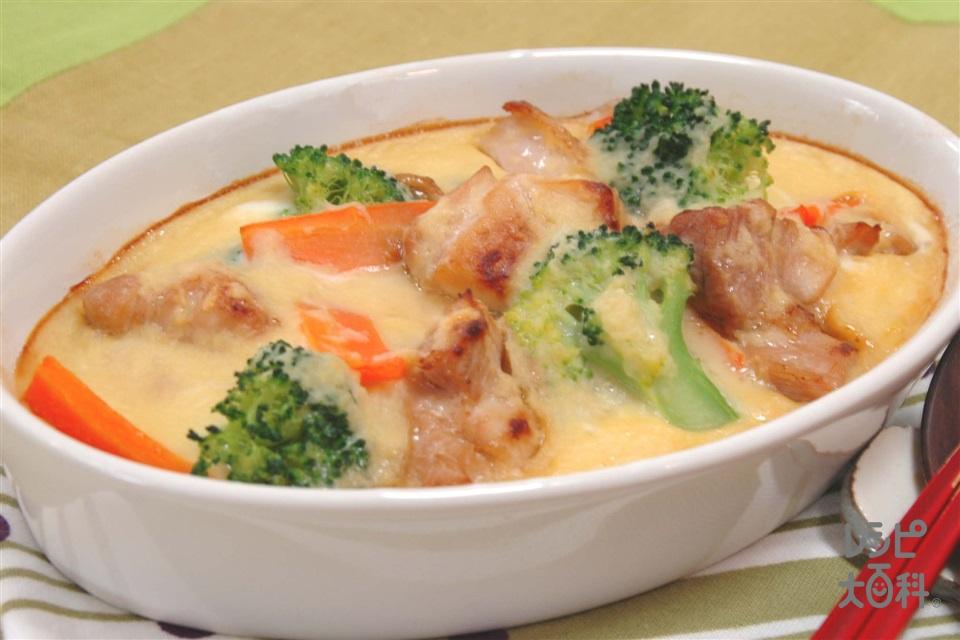 鶏とブロッコリーの長いもグラタン(鶏もも肉+長いもを使ったレシピ)