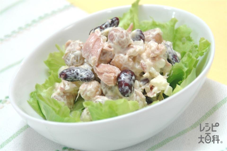 ツナとお豆のコクうまサラダ(ツナ缶+ミックスビーンズ缶を使ったレシピ)