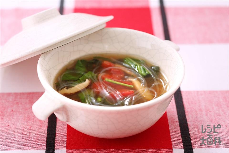 春雨の中華風スープ