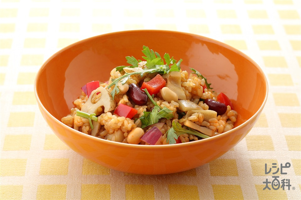 コリアン風玄米サラダ