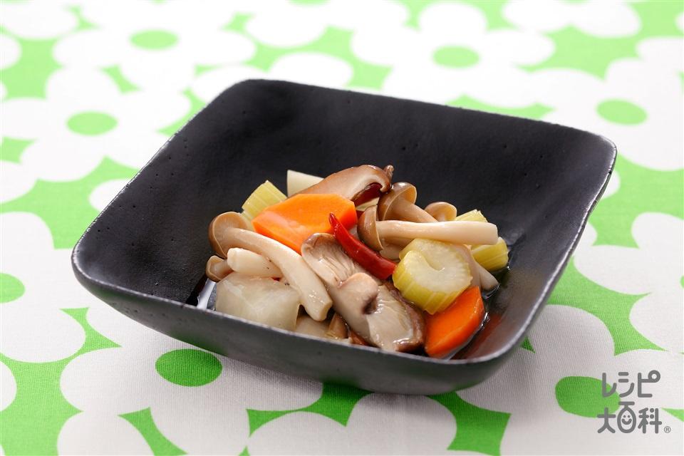 きのこと野菜のピクルス(セロリ+大根を使ったレシピ)