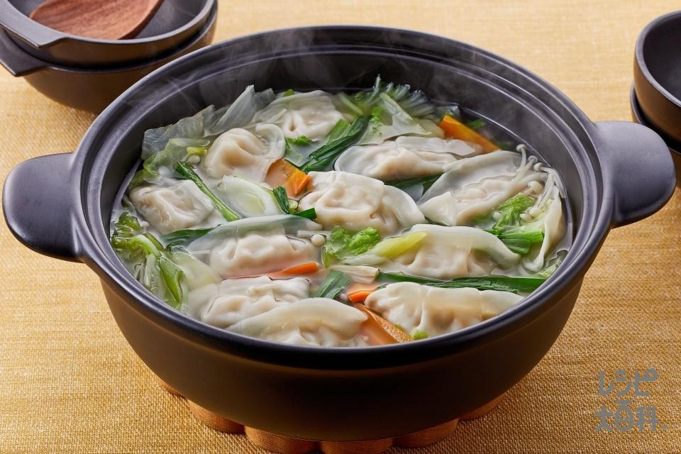 餃子鍋(白菜+にらを使ったレシピ)