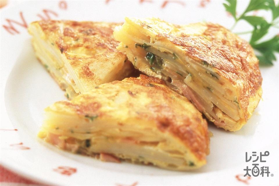 スペイン風オムレツ(卵+じゃがいもを使ったレシピ)